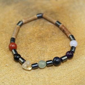 Bracelet Simple Bois de Noisetier et Chakras
