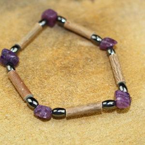 Bracelet Simple Bois de Noisetier et Knuzite