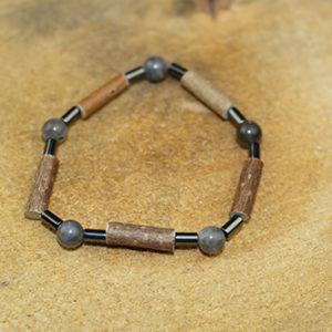 Bracelet Simple Bois de Noisetier et Labradorite