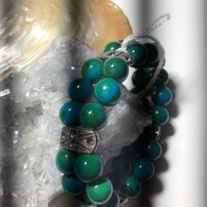 bracelet double chrysocolle