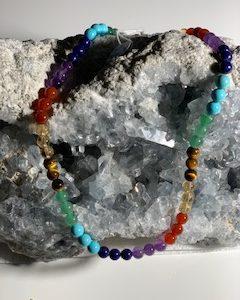 collier  Cktakras pierres