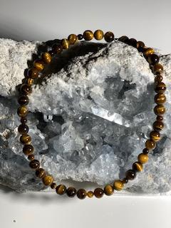 collier Oeil de Tigre pierres